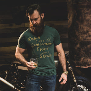 Drink Like a Gentleman... T-Shirt Product Savage Gentleman