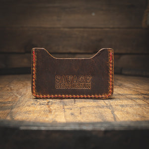 Minimalist Wallet Brown Leather Goods Savage Gentleman