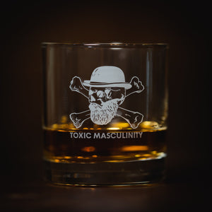 Toxic Masculinity Whiskey Glass Savage Gentleman