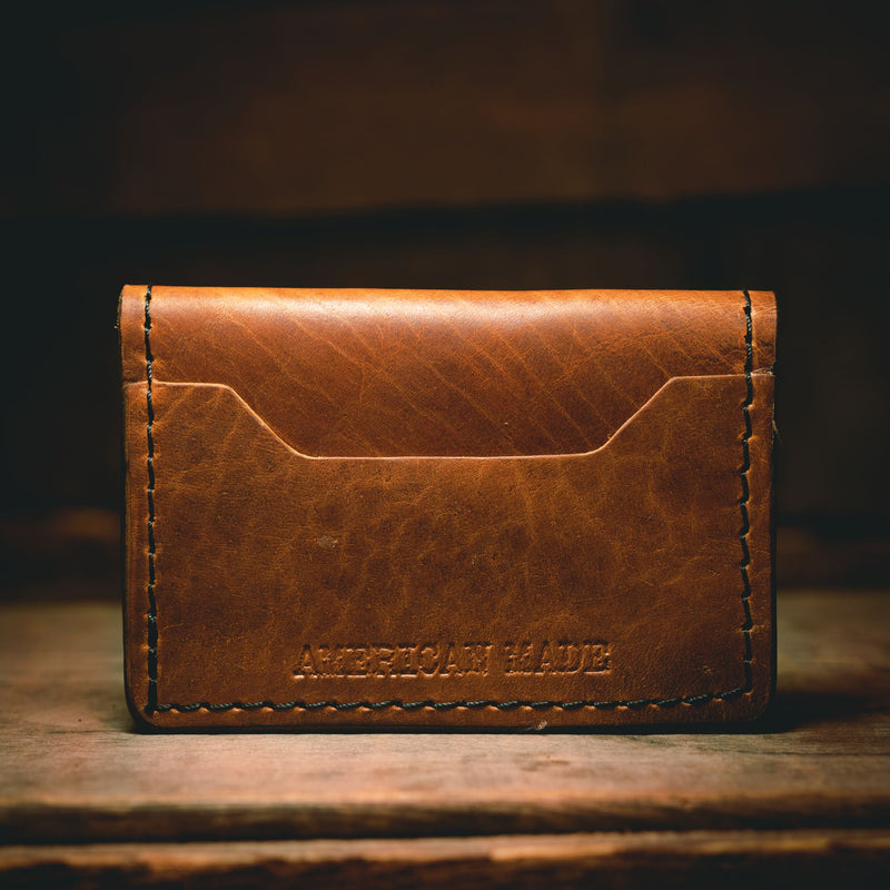 Tradesman Wallet - American Bison (Black and Tan) Leather Goods Savage Gentleman