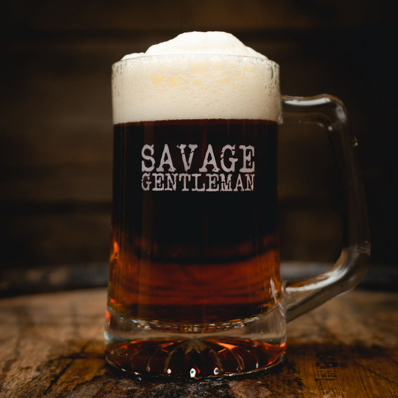 """Savage Gentleman"" Beer Mug Drinkware Savage Gentleman"
