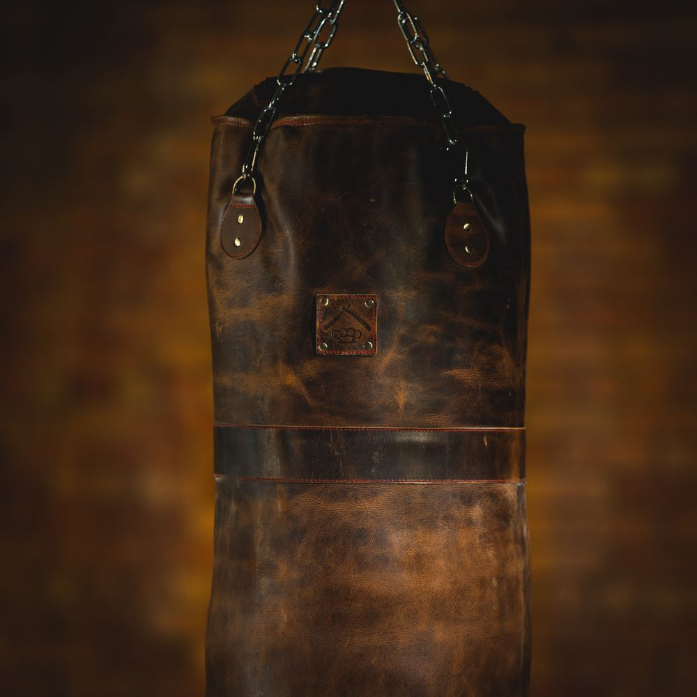 vintage heavy leather punching bag