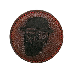 Handcrafted American Bison Leather Coaster- Skull Leather Goods Savage Gentleman