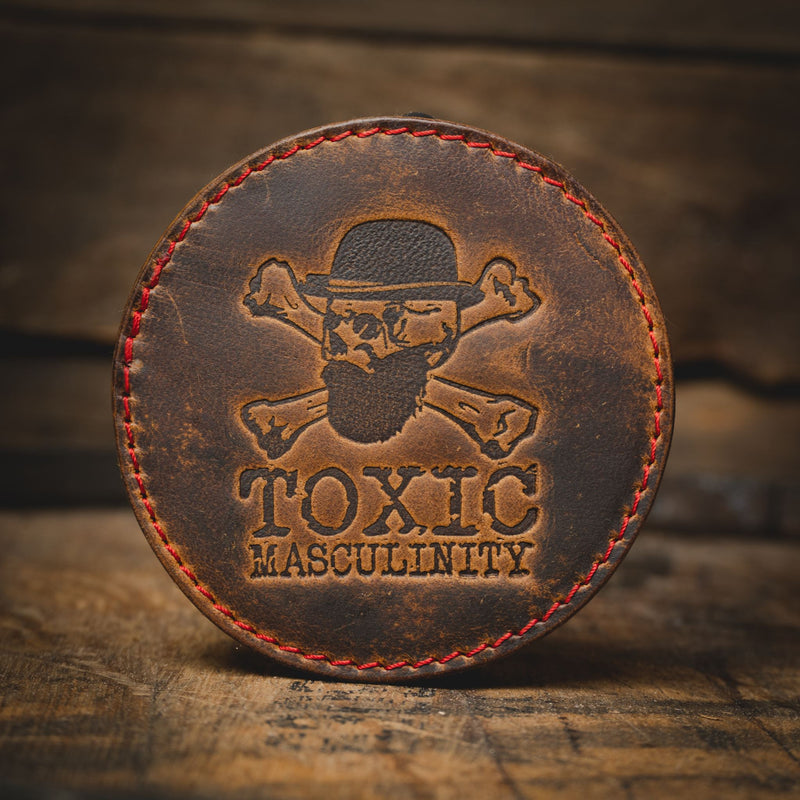 Toxic Masculinity Coaster Leather Goods Savage Gentleman
