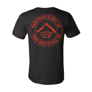 """Know When To Hold 'em"" T-Shirt Product Savage Gentleman"