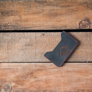 Handcrafted Minimalist Wallet-Black Leather Goods Savage Gentleman
