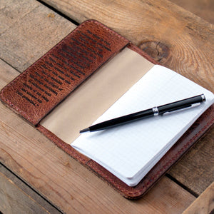 Handmade Leather Notebook Cover- Water Buffalo