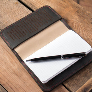 Handcrafted Leather Notebook Cover- Black