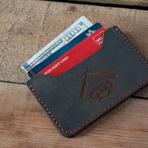 Savage Gentleman Minimalist Wallet with Credit Cards and Cash