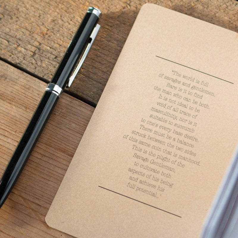 Field Notes Notebook Savage Gentleman