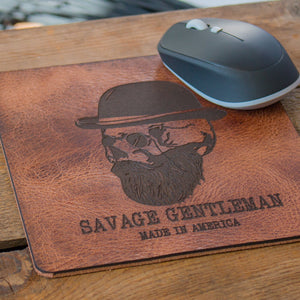 Handcrafted Leather Mousepad