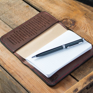 Handcrafted Leather Notebook Cover- Brown