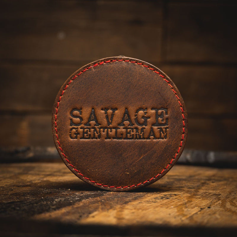 Savage Gentleman Leather Coaster Savage Gentleman