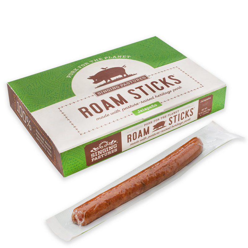 Roam Sticks – Hickory-Smoked Pork With Jalapeño – 12 Pack