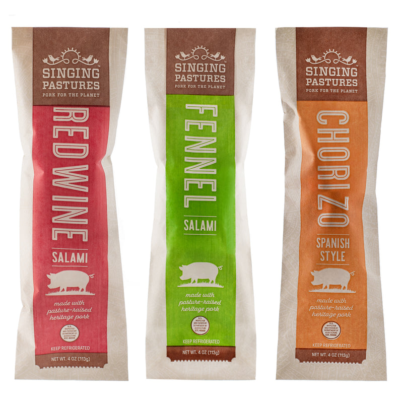 Sampler Pack – Artisanal Charcuterie – 3 Sticks Per Pack