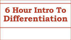 DIFF1: Introduction to Differentiation