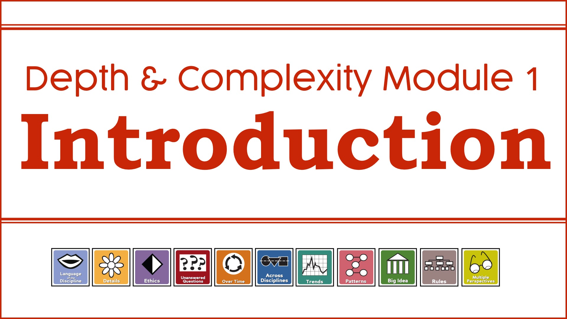 DC1: Module 1 - Introduction to Depth & Complexity