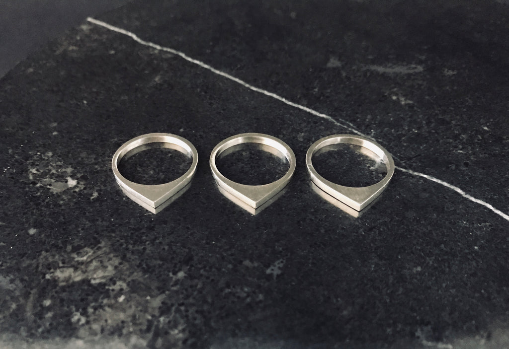 MOONRISE MIDI RINGS - SET OF 3