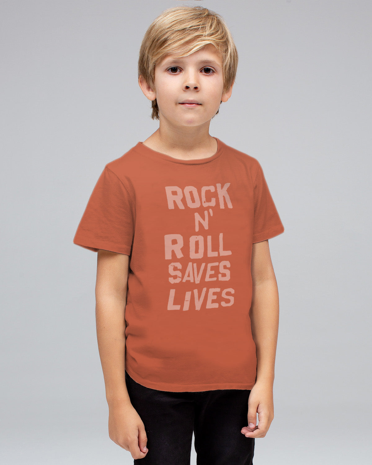 03550dc64 BOYS ROCK N ROLL SAVES LIVES TEE – Junk Food Clothing