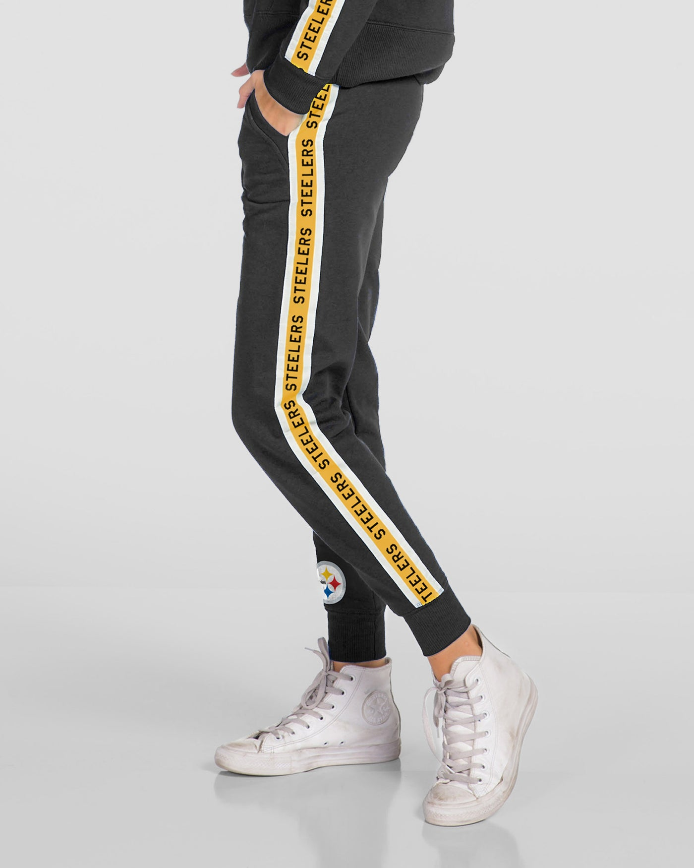 brand new 70980 0e113 WOMENS STEELERS SUNDAY JOGGER PANTS - TRUE BLACK / XS