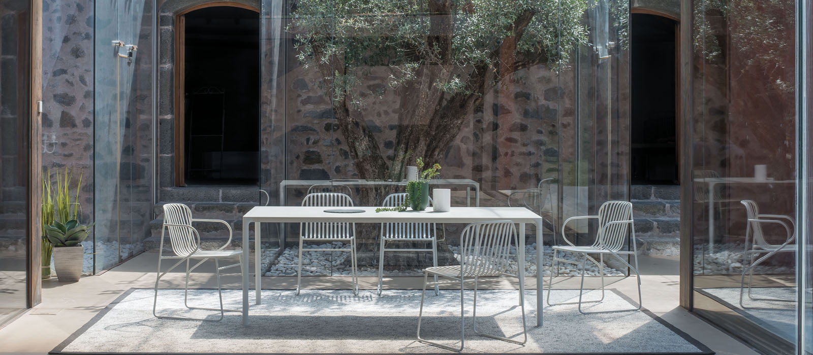 The Riviara collection is a beautifully designed outdoor furniture collection, designed by Lucidi / Pevere.