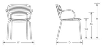 Mom Side Chair Line Art | Patio Furniture
