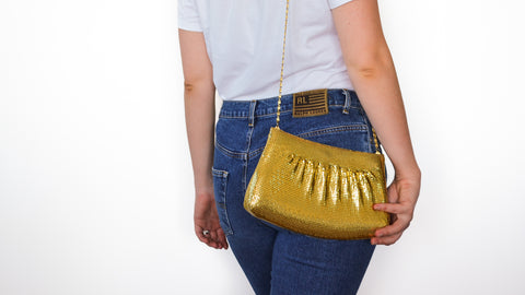 Gold Glomesh Evening Bag