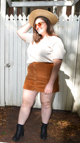 Chorduroy Mini Skirt
