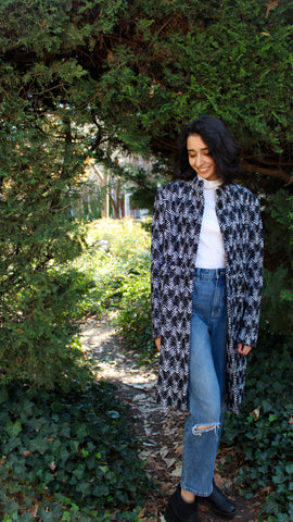 Perri Cutten Houndstooth Coat