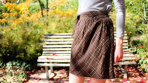 Checked Brown Skirt
