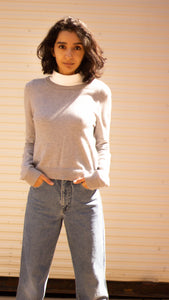 Grey Crop Knit
