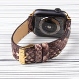 Apple Watch Band Leather Snake Patterned