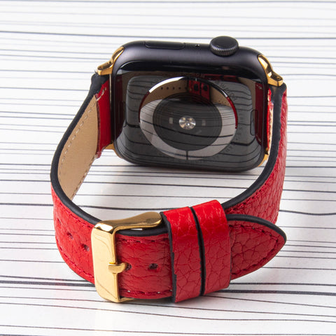 "Apple Watch Band Handcrafted "" Floater"" Padded Leather"