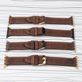 "Apple Watch Band Handcrafted ""Crazy Horse"" Leather Padded"