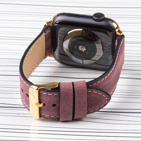 "Apple Watch Band ""Crazy Horse"" Lilac Leather"