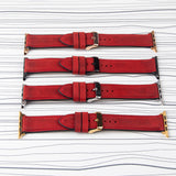 "Apple Watch Band ""Crazy Horse"" Red Leather"
