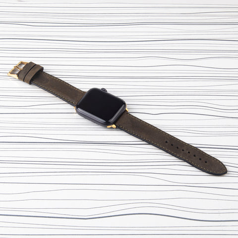 "Copy of Apple Watch Band ""Crazy Horse"" Grey Leather"