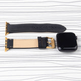 "Apple Watch Band ""Crazy Horse"" Leather Black"