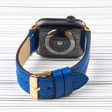 Apple Watch Band Blue Premium Flotter Leather