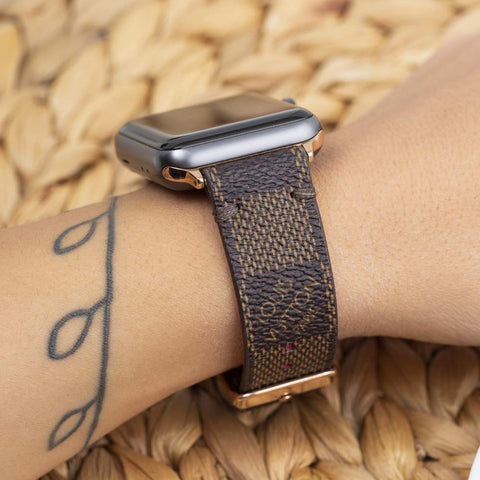 Apple Watch Band  Damier LV Monogram Brown