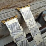 Apple Watch Band Damier LV Monogram Azur