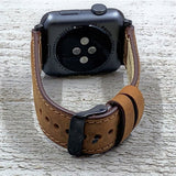 "Apple Watch Band ""Crazy Horse"" Brown Leather"