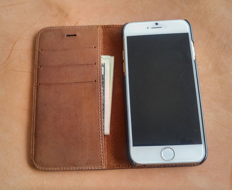Iphone Case Crazy Horse Folio Leather Wallet