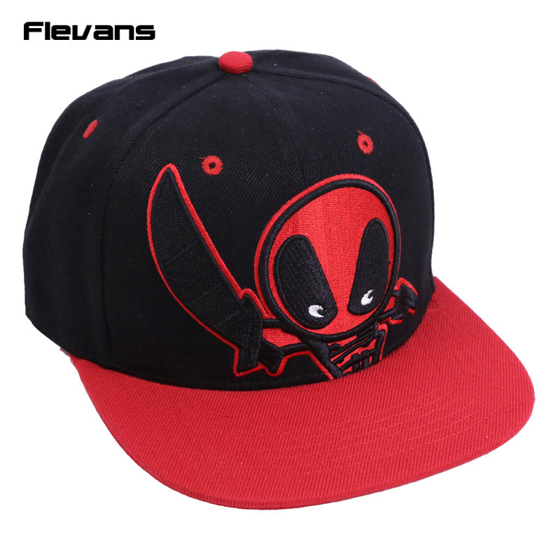 Deadpool Hip Hop Snapback Summer Cotton Cap Hat Baseball Cap For Men Women