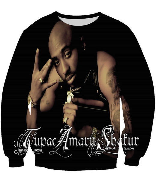 Tupac 2Pac long sleeves No hoodies pullover hiphop clothing
