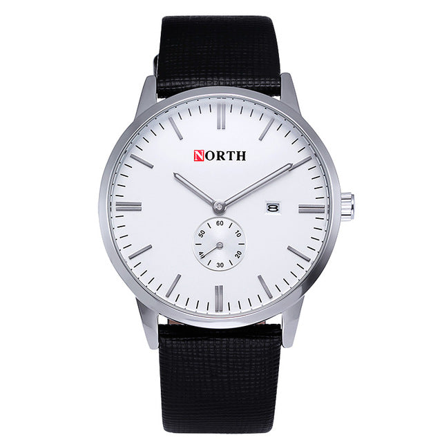 Sport Watch Casual Genuine Leather Quartz Business Watch Mens