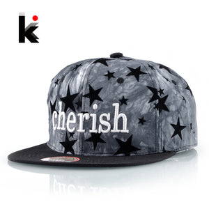 New Flat Kpop Hats For Men Cherishi Letter Embroidery Baseball Cap Women Snapback Unisex Hip Hop Gorros Boys Drake Fitted Bones