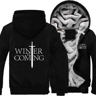 Game of Thrones Hooded Thick Zipper Men Sweatshirts