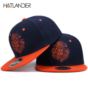 High quality lion face embroidery snapback King cap
