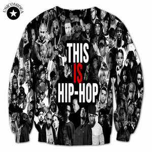 New fashion men/women's pullover this is hip-hop sweatshirts long sleeve crewneck casual hiphop streetwear 3d hoodies top large